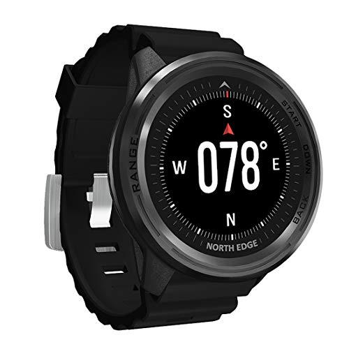 Relógio masculino inteligente, 50 m, à prova d'água, para esportes ao ar livre, com GPS/bússola/altímetro/barômetro/detecção de frequência cardíaca, para esportes ao ar livre