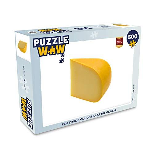 Puzzel 500 stukjes Gouda - Een stukje Goudse kaas uit Gouda - PuzzleWow heeft +100000 puzzels - legpuzzel voor volwassenen - Jigsaw puzzel 48x34 cm