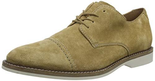 Clarks Atticus Cap, Zapatos de Cordones Derby Hombre, Beige (Dark Sand Suede Dark Sand Suede), 41.5 EU