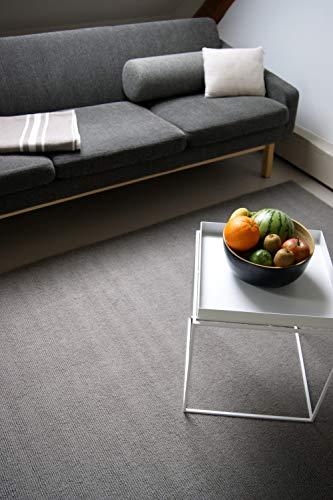 Moderner Designer Wollteppich Loft Earth grau/braun 120x170cm - Reine Wolle in leuchtenden modernen Farben