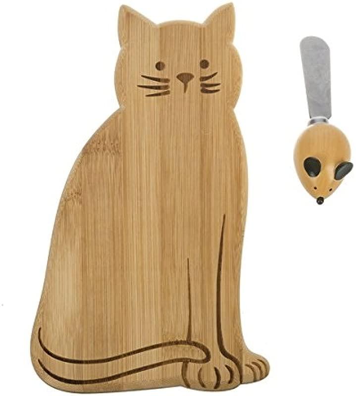 Ganz Cat Cheese Board W Spreader 2 Piece Set ER55415