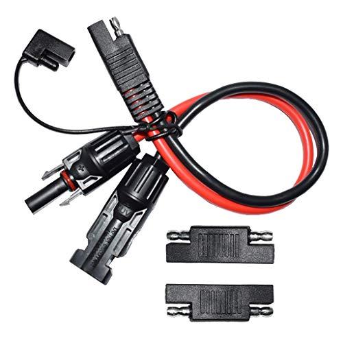 perfk 10AWG 5,31mm² Solar Verlängerungskabel MC4 Anschlusskabel Mc4 auf SAE Adapter aus Kupfer