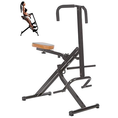 Aparato de entrenamiento en casa para abdominales, brazos, piernas, espalda y glúteos, entrenamiento aeróbico en casa (negro)