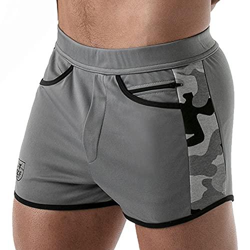 Tof Paris - Pantalones cortos Camo Gym - Fabricación francesa, gris, L