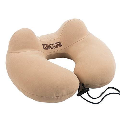 Bjlwtq Memory Foam la Almohadilla del Recorrido, Almohadilla del Cuello terapéutico ergonómica y Patentado Lavable Cubierta más cómoda Almohadilla del Cuello-A