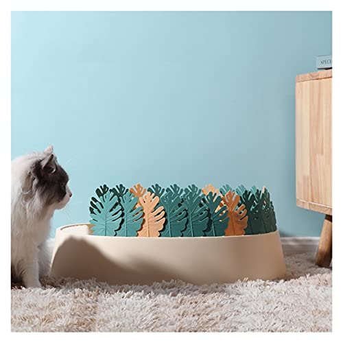 xinxinchaoshi Pet Cable ABIERTE Top Cats Caja de Arena con la decoración de la Forma de la Hoja Decoración Gato removible Pan/Cajas de Arena (Color : C)