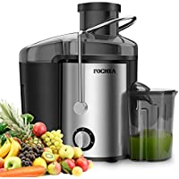 Fochea Centrifugal 400W Powerful Juicer Machine with Spout Adjustable (Silver)