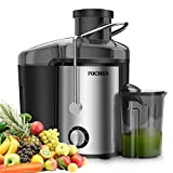 Juicer Extractor,FOCHEA Centrifugal Juicer 400W Powerful Juicer Machine For Fruits & Vegetable with Spout Adjustable,Stainless Steel and BPA Free,Easy To Clean