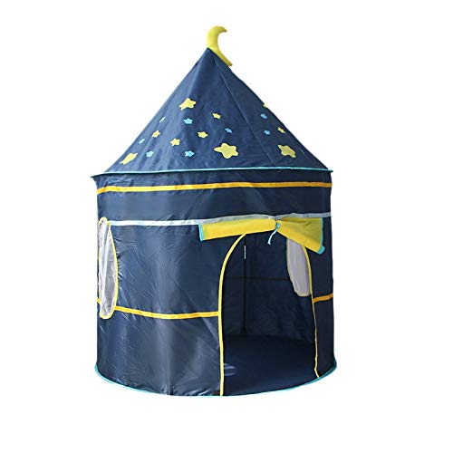 YanYun Kids Tent Princess Castle Tent Children Playhouse for Indoor Outdoor with Carry Bag Portable Playhouse-Blue