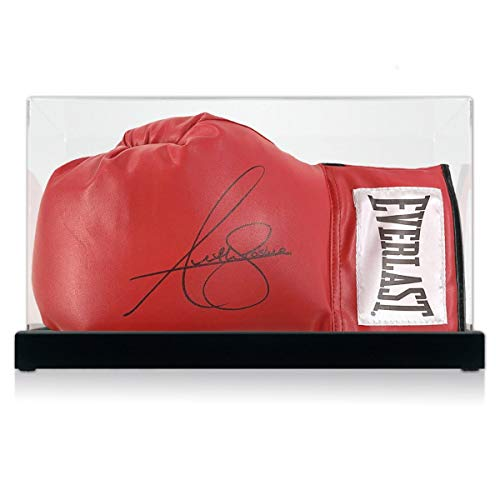 Exclusive Memorabilia Anthony Joshua Signed Red Boxing Glove. In Display...