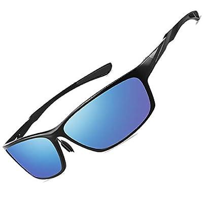VEOAY Polarized Sunglasses for Men and Women, Al-Mg Metal Frame Ultra Light 100% UV Blocking Sports Sun glasses (Color008)