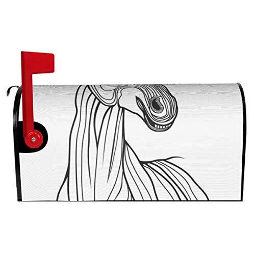 Briefkasten-Abdeckung, magnetisch, Pferdekopf-Tier, für T-Shirts, Skizzen, Tattoo-Design, Briefkasten-Abdeckung für Garten, Hof, Heimdekoration, 53,3 x 45,7 cm