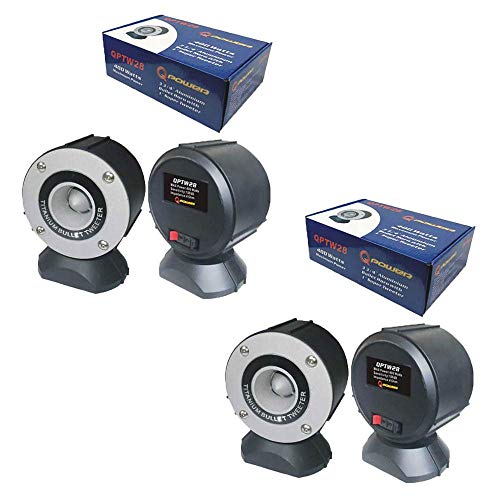 Q-Power Car Audio 400W 3.75 Inch Bullet Horn w/ 1 Inch Super Tweeter (2 Pack)