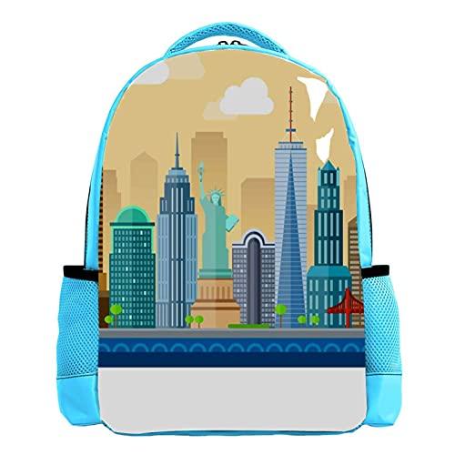 City White - Mochila ligera para niños pequeños (26,6 x 20 x 42 cm), color blanco, 1, 26.6x20x42cm,