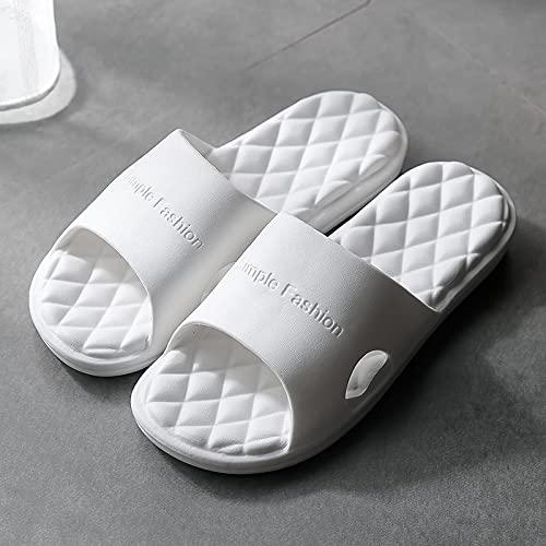 NISHIWOD Zapatillas Casa Chanclas Sandalias Nuevas Zapatillas De Mujer De Fondo Grueso Interior Eva Home Hotel Sandalias Y Zapatillas Parejas Casa Baño Zapato Plano Suave Antideslizante 39 Blanco