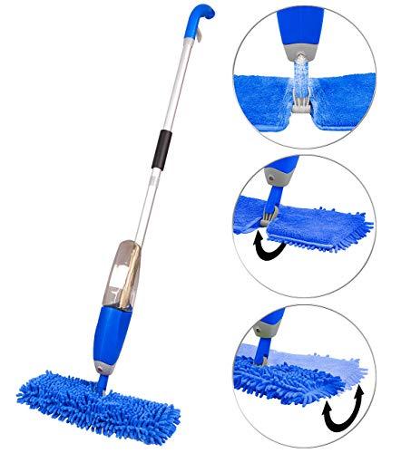 Sichler Haushaltsgeräte Spraymop: Nass-Trocken-Bodenwischer, Sprühfunktion, 700ml Wassertank, FastSwap (Mopp)