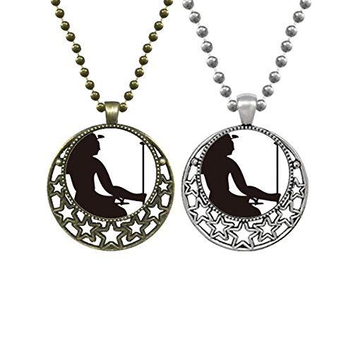 Halskette mit Anhänger, ägyptische Pharao, Zepter, Fresko, für Liebhaber, Retro, Mond, Sterne, Schmuck