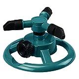 Rasensprenger Garten Sprinkler Automatische Bewässerung mit 360 ° bis 3-Arm-Drehung für Garten Rasen Rollrasen Kindern Spielen,Rasen Wasser Sprinkler, Drehung für große flächen (Grün)