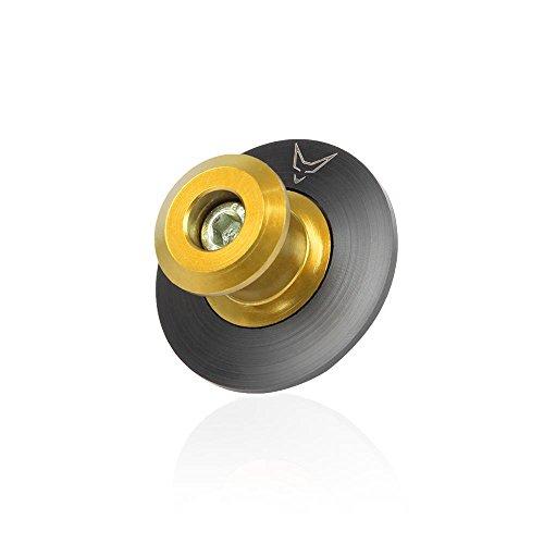 RACEFOXX Ständeraufnahmen mit Schwingenschutz, Aufnahmen, Montageständer, Motorradständer, Bobbins, gefräst, M10, gold eloxiert, 1 Paar, für Kawasaki, KTM
