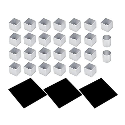 Molde de pastel de cubos de metal 3D Molde para hornear de postre de pastel de mousse de rotación de tres capas Molde para magdalenas
