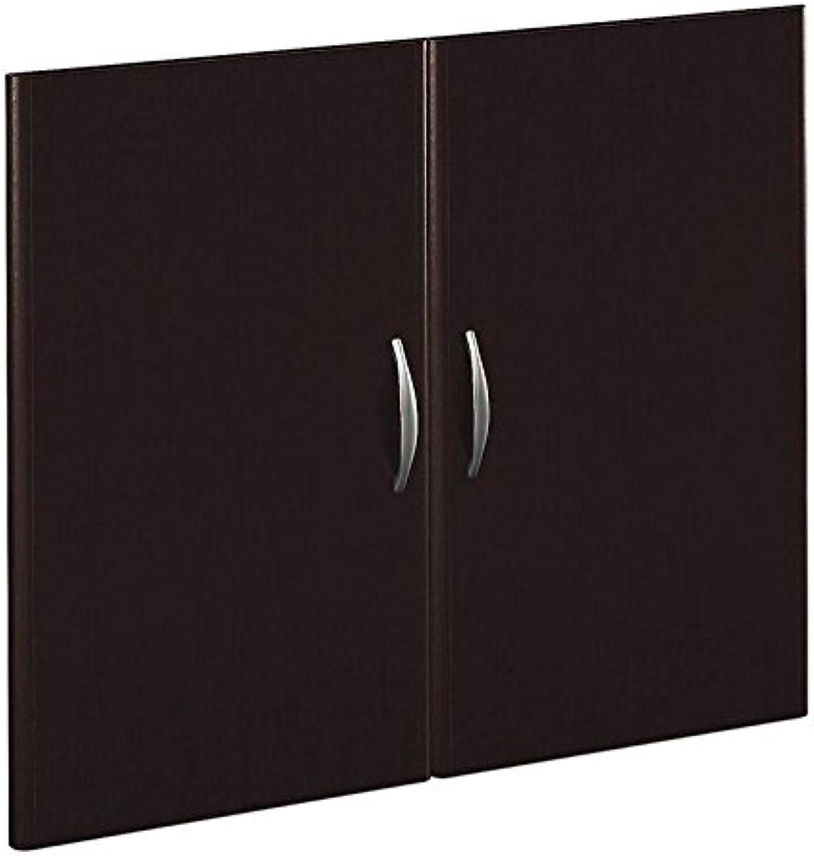 Bush Business Series C Half-Height 2 Door Kit in Mocha Cherry