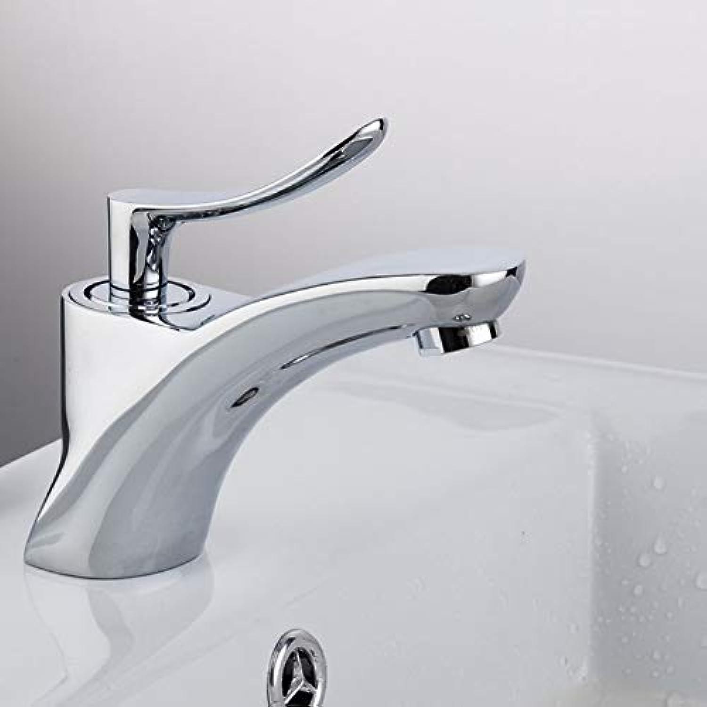 ZHFJGKR&ZL Spültischarmatur Bad Waschbecken und Waschbecken Wasserhhne Chrom Badewannenarmaturen Kalt- und Warmwassermischer Einhandbatterien