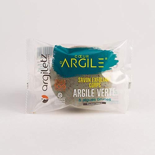 ARGILETZ Lot de 2 savons 100g exfoliant argile verte et algues brunes distribué par DSTOCK60