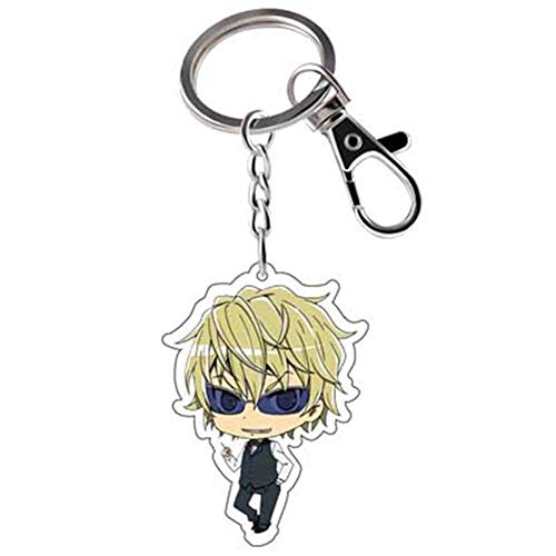 CAR-TOBBY Anime Durarara !! Doppelseitige Comicfiguren Schlüsselanhänger DRRR Orihara Acryl Auto Schlüsselanhänger Anhänger Schlüsselanhänger Geschenk(H09)