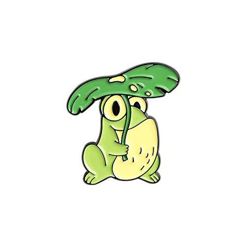 PYBH Frog Spel Pins Carino Smalto distintivi Anime Cartoni Animati Spilla per Donna distintivi Decorativi Gioielli Stile Gotico Spilla Mini Perno Hijab (Color : 3)