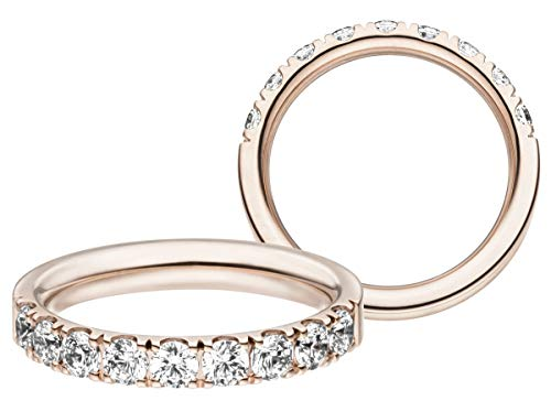 JC Trauringe Memoriering Damenring Memory Ring Swarovski-Steine Verlobungsring in Rotgold ME540 (18 Karat (750) Rotgold)