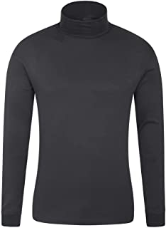 Mountain Warehouse Meribel Mens Thermal Baselayer Top - Combed Cotton Sweater, Roll Neck Jumper, Breathable, Quick Drying...