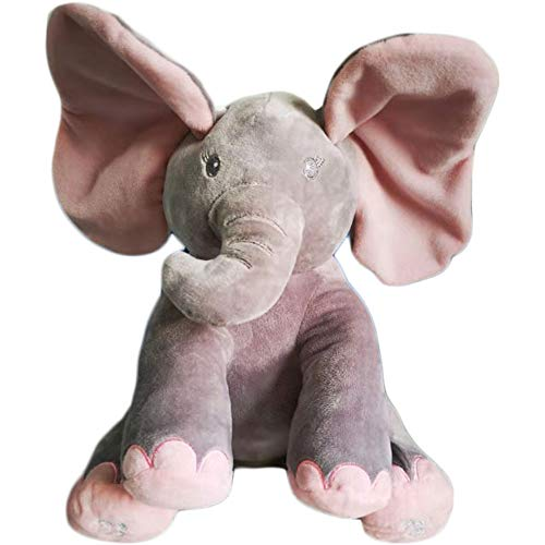 Dimple Kaia Elephant Animated Plush Singing Elephant with Peek-a-boo Interactive Feature