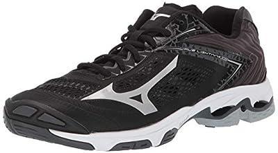 Mizuno Men's Wave Lightning Z5 Volleyball Shoe, blacksilver, 7 D US