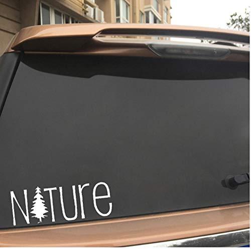 Yangjingkai 2 stuks natuurhuis landschappen interessant vinyl sticker voor ramen boven wit 16,4 cm x 6,3 cm