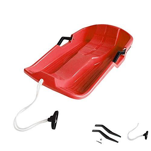 LFK Trineo de Nieve para niños/Adultos, Tabla Duradera de plástico para Trineo, Trineo para niños/Adultos con Frenos, para Esquiar en Hierba, Arena, esquí en Hierba