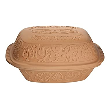 Romertopf by Reston Lloyd Classic Series Glazed Natural Clay Cooker, Large