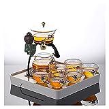 Conjunto de 9/10 Piezas de Conjunto de té de Cristal Perezoso semiautomático de la Oficina de la Oficina Kung Fu Teacup Set Tea Brewing Tea Set ( Size : H )