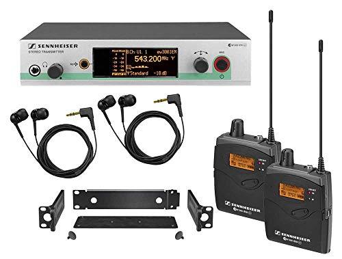 Sennheiser Consumer Audio Compatible with Sennheiser EW 300-2IEM G3 - In-ear Monitoring System - A-Range (516 - 558 MHz)