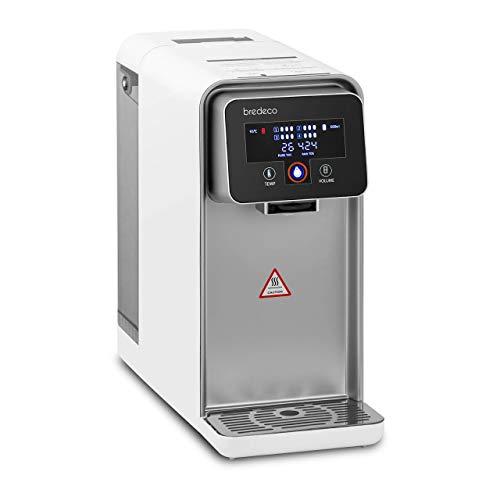 bredeco BCWD-5L Heißwasserspender 5 Liter 4 Filter bis 95 °C 4 Wärmestufen 2.200 W Wasserspender Heißwassergerät Wasserbereiter Thermo Pot
