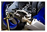 M4 Performance Exhaust Street Slayer Carbon Canister Slip-On compatible with 2006-2020 Yamaha R6 YA6624