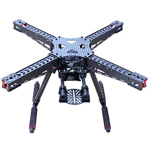 FEICHAO 450 450mm Kit Telaio quadricottero in Fibra di Carbonio con Carrello di atterraggio in Fibra di Carbonio per quadricottero Drone FPV a 2/3 Assi