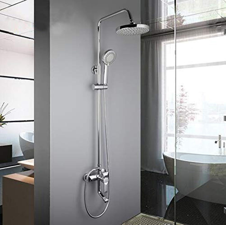 教授フォーラム戦略PYROJEWEL 浴室水栓 1セットのバスルームには、蛇口セットのミキサーのタップ付きハンドスプレーウォールは、シングルハンドルの浴室のシャワーセットをマウントシャワー降雨 シャワー水栓