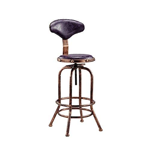 ZHyizi Hoge krukken, Barstoelen, Ergonomische Draaistoel Huishoudelijke Meubels Luxe Comfortabele Verstelbare Hoogte Roterende Lift Tuinstoelen met Rugleuning Paars