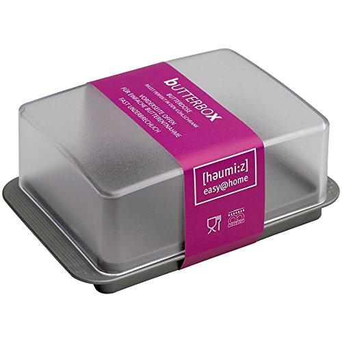 Homexpert Butterdose, Kunststoff, Mehrfarbig, 17 cm
