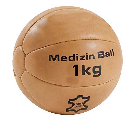 Lisaro Medizin-Ball aus Echt-Leder (2-KG)