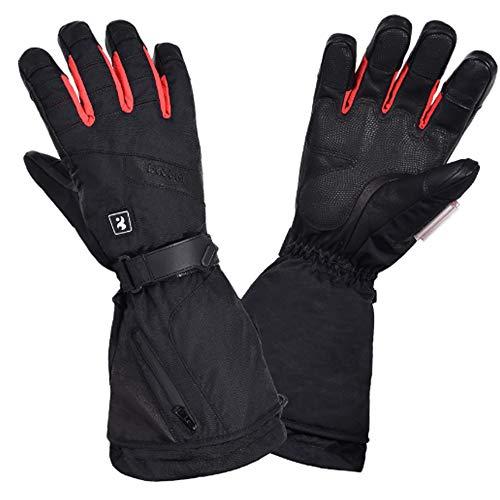 ZTBGY verwarming handschoen winter-outdoor sporthandschoenen verwarmen thermostaat met drie versnellingen, touchscreen, batterij als stroombank, uniseks