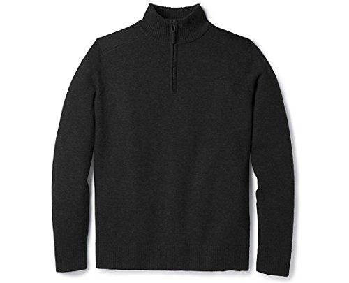 Smartwool Sparwood Half Zip Sweater - Men's Merino Wool Sweater Charcoal Heather Large
