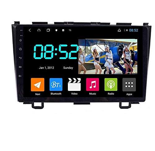 Android 8.1 Navegación GPS Autoradio 9' 1080P HD Touch Screen Estéreo TV para Honda CRV 2007-2011, con control en el volante, Bluetooth, manos libres, Link SWC, 8 núcleos: 4G + WiFi 2G + 32G