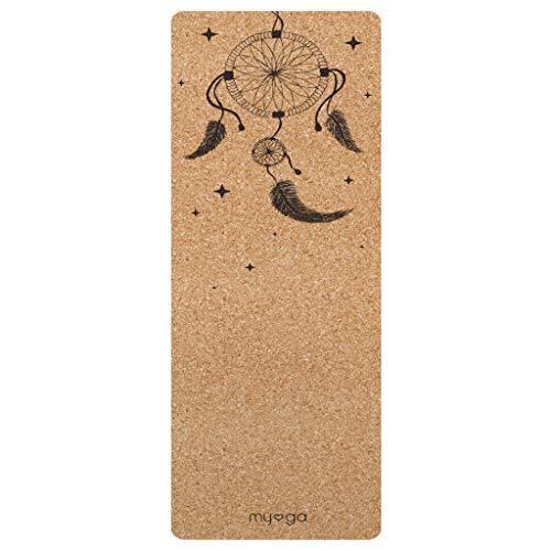 Myga RY1323 Dream Catcher XL Tapis de yoga en liège respectueux de l