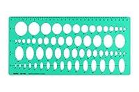 製図用楕円テンプレート定規003-002